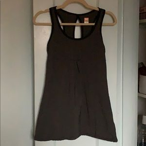 Lucy women's tank top, dark gray with black trim